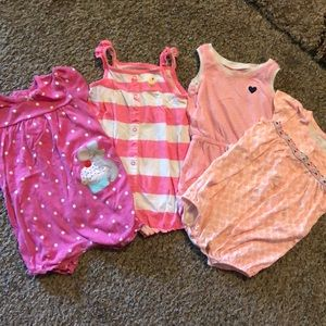 Carters rompers. Set of 4